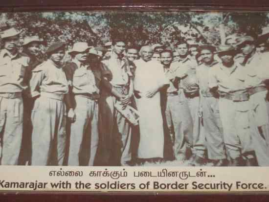 kamarajar photos With Border Security Force